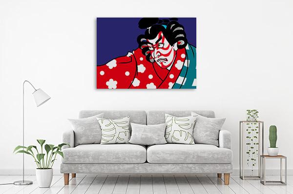Kabuki Cartoon Prints Canvas
