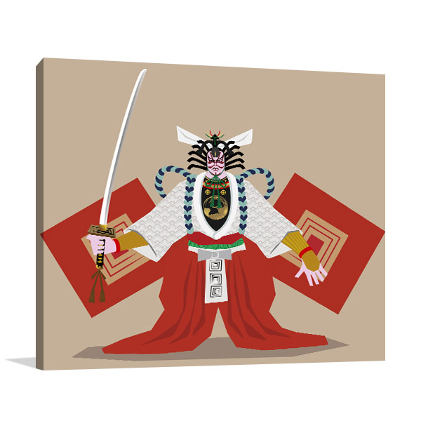 Kabuki Shibaraku Artwork