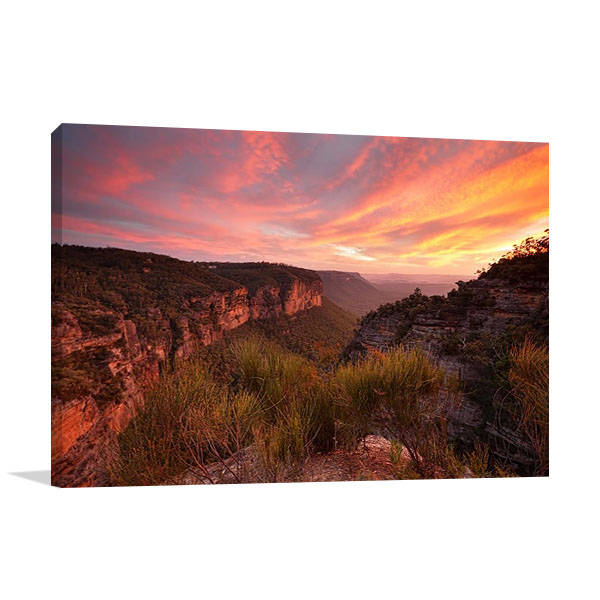 Australia Katoomba Sunset Canvas Print