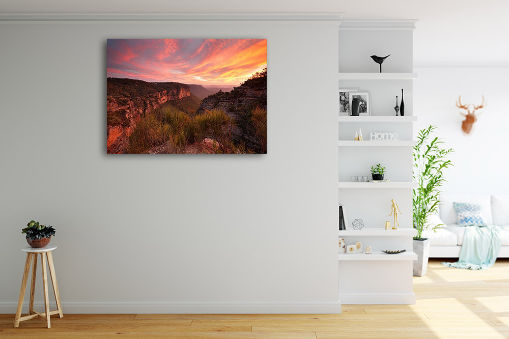 Australia Sunset Canvas Print