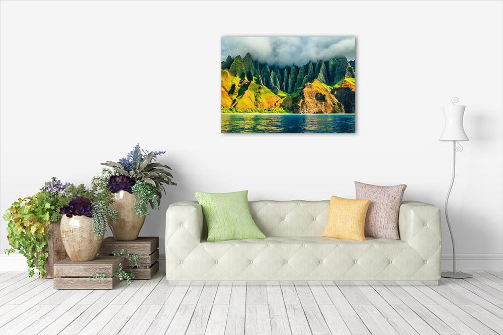 Mountain Sunset Art Print Canvas
