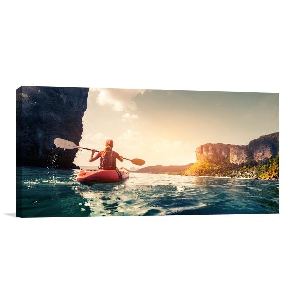 Kayak Wall Canvas