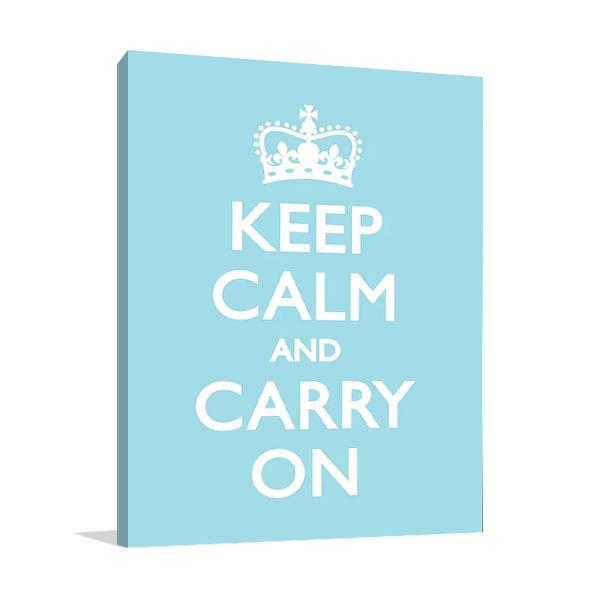 Keep Calm Print on Canvas