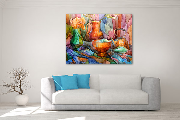 Kettle And Vases Prints Canvas