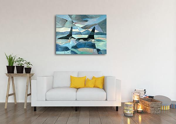 Killer Whales Prints Canvas