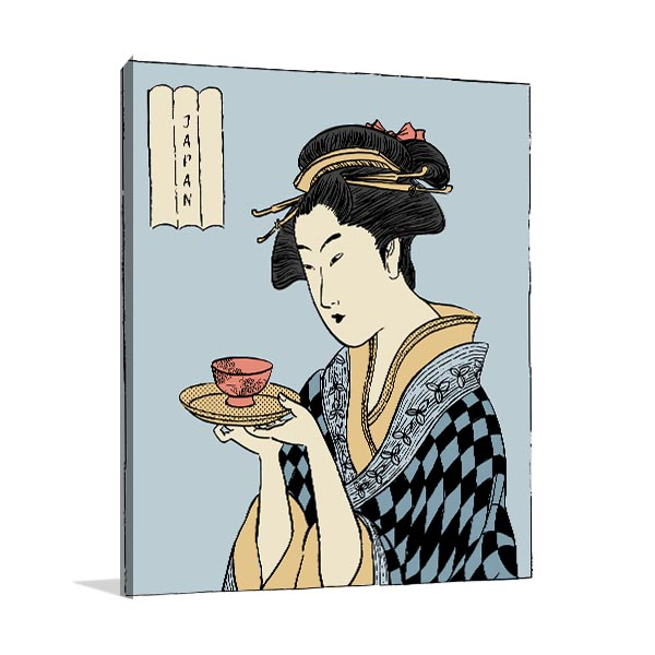 Kimono and Tea Print Artwork