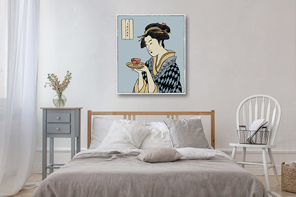 Kimono and Tea Canvas Prints