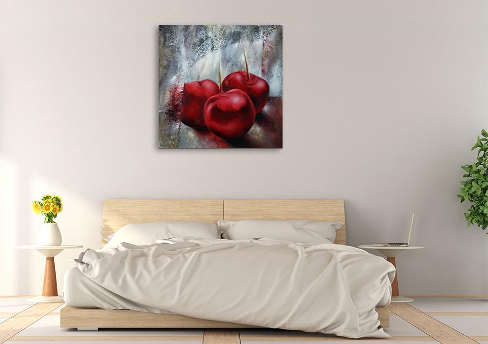 Annette Schmucker | Cherries | Paintings | Canvas