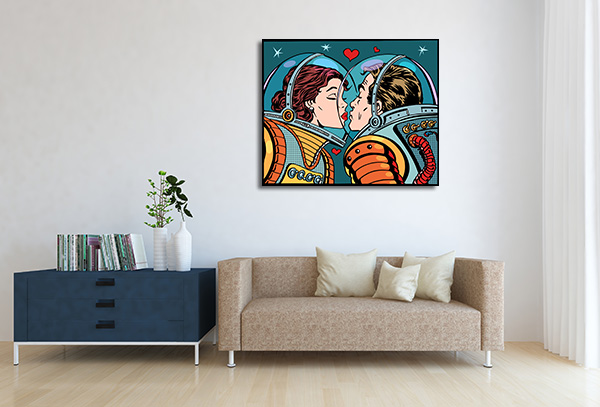 Kiss Space Prints Canvas
