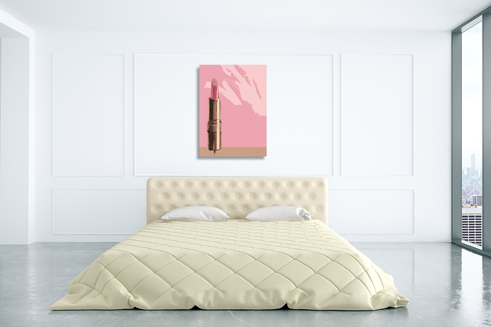 Pink Watercolour Canvas Print
