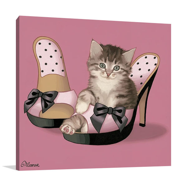 Kitten on High Heels Canvas Print