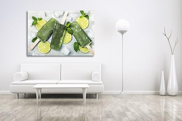 Kiwi and Lemon Prints Canvas