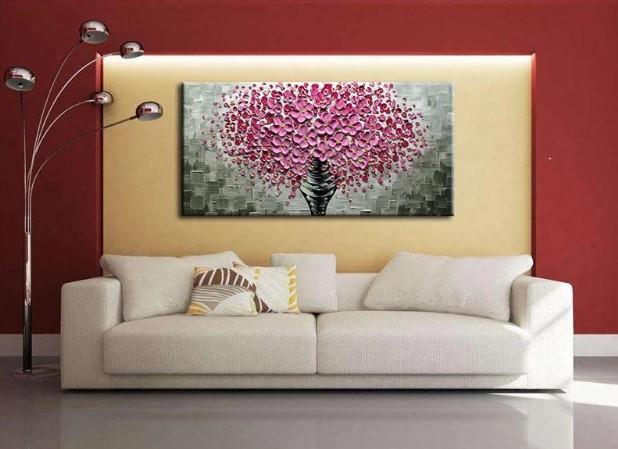 Sydney Modern Pink Wall Art Knife Painting