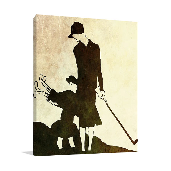 Lady and Child Golfer Canvas Print
