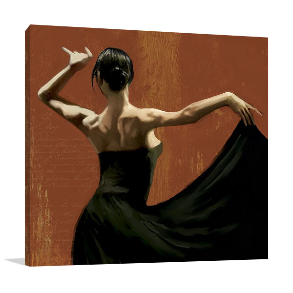 Lady Dancing Samba I Print on Canvas