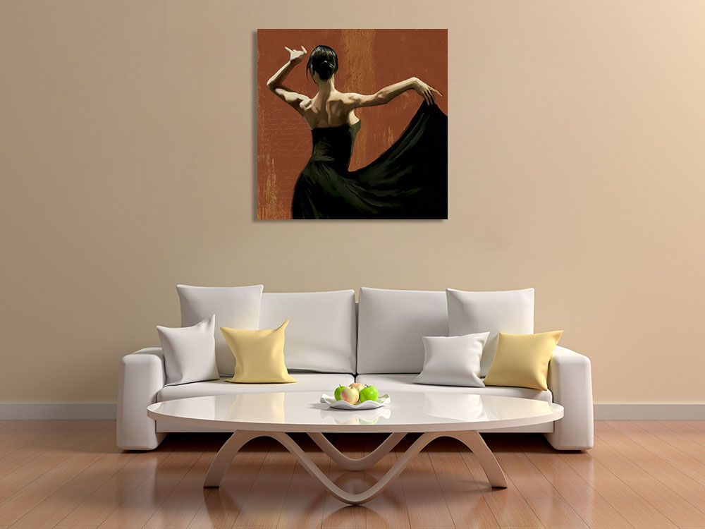 Modern Woman Art Print on Canvas