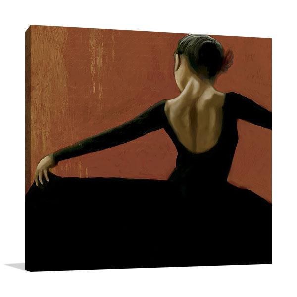 Lady Dancing Samba II Print on Canvas