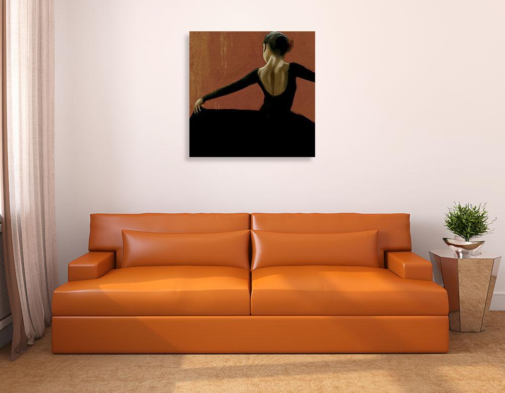 Square Black Art Print on Canvas