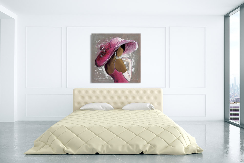 Pink Fashion Canvas Art Print
