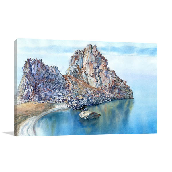 Lake and Rocky Cape Wall Art