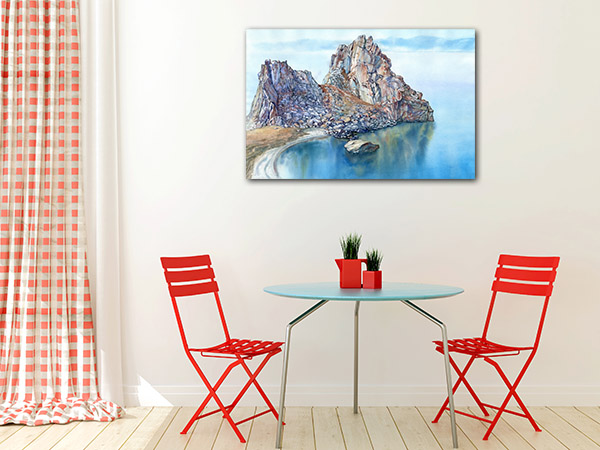 Lake and Rocky Cape Art Prints