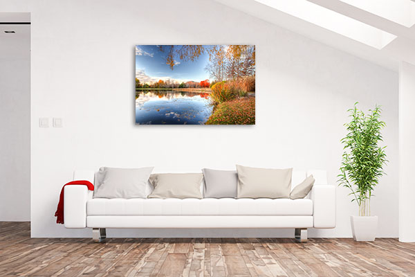 Lake Burley Griffin Art Print ACT Autumn Wall Picture