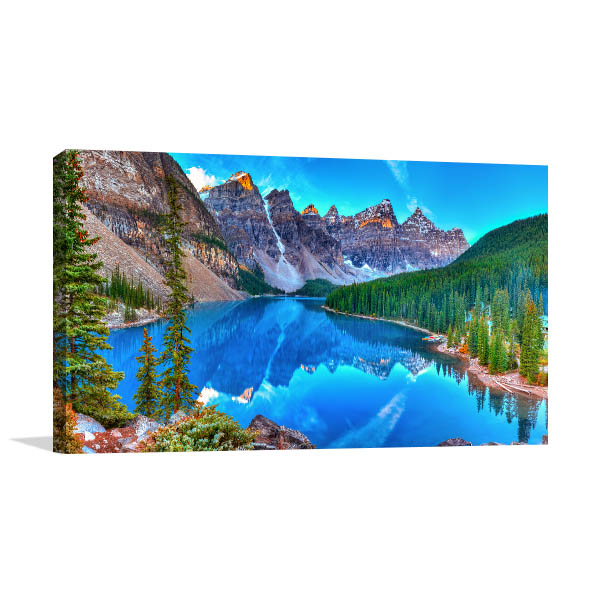 Lake Moraine Sunrise Wall Art