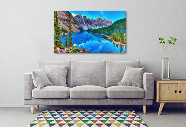 Lake Moraine Sunrise Print Artwork