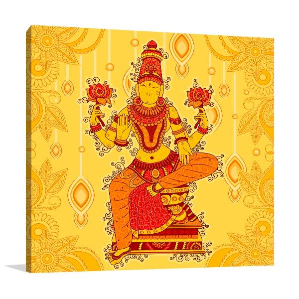 Lakshmi Sculpture Canvas Prints