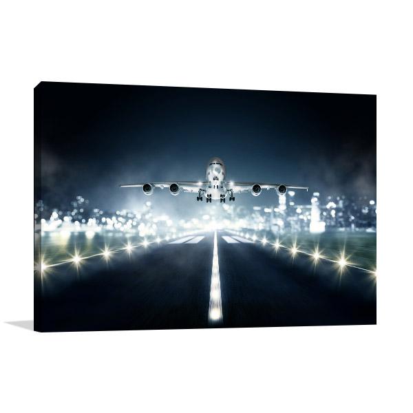 Landing Airplane Canvas Prints
