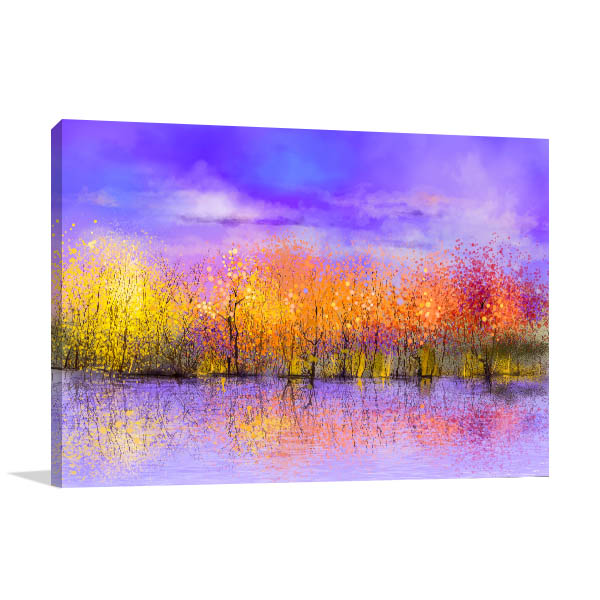 Landscape Autumn Trees Canvas Prints