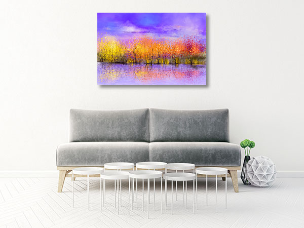 Landscape Autumn Trees Canvas Art Prints
