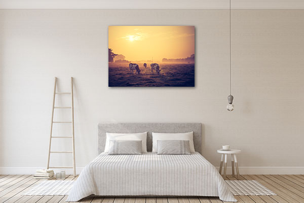 Landscape with Cows Wall Art