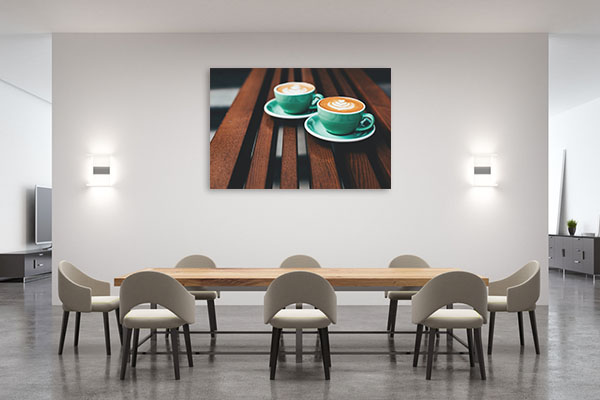 Latte Art Canvas Art