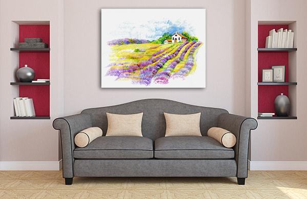 Lavander Field Canvas Art