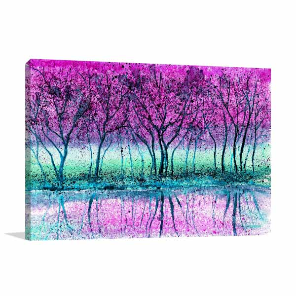 Lavender Scenery Wall Art