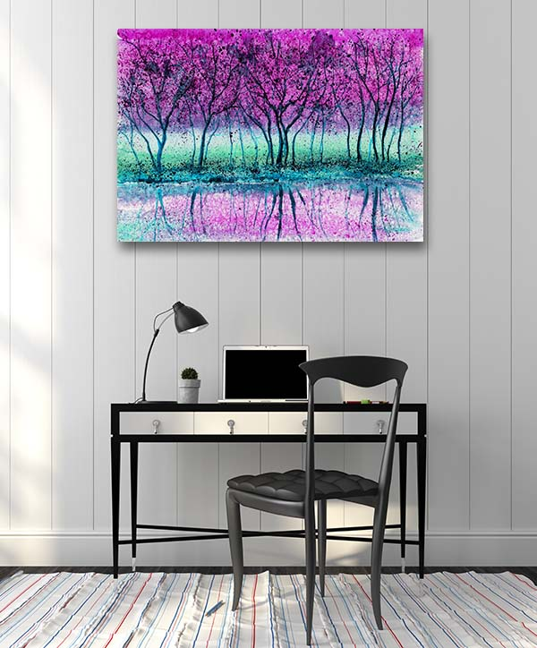 Lavender Scenery Canvas Prints