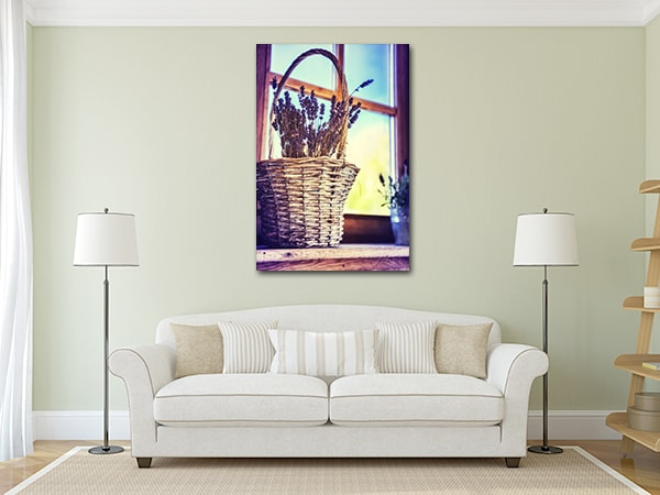 Lavender Print Art Canvas on the Wall