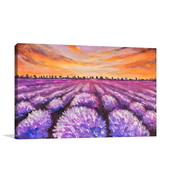 Lavender Field Canvas Art