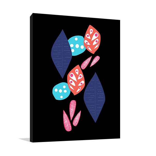 Leaf Pattern I Canvas Art Print | Biehle