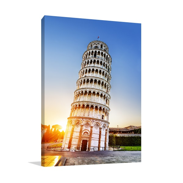 Leaning Tower Canvas Art Print Prints Canvas