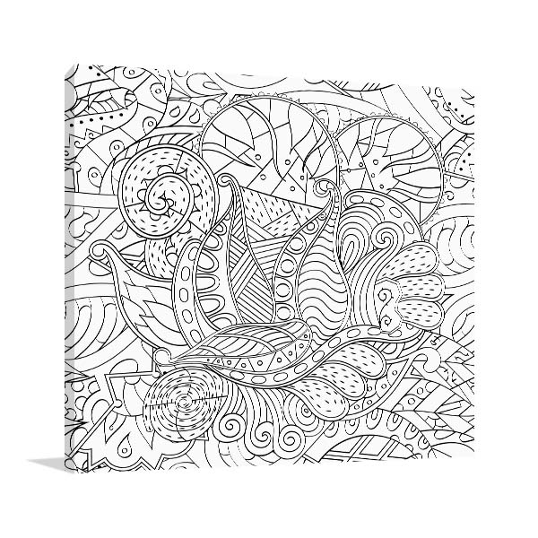 Leaves and Vines Canvas Art