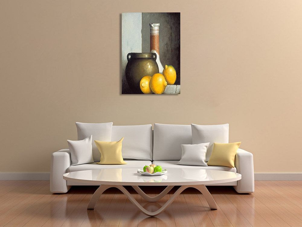 Yellow Wall Print on Canvas