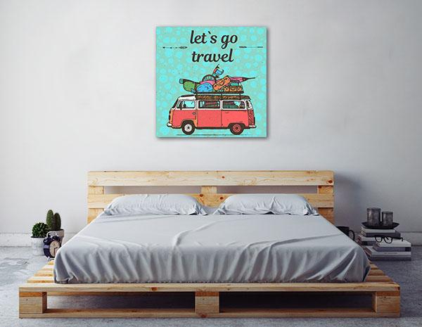 Let's Go Travel Print Artwork
