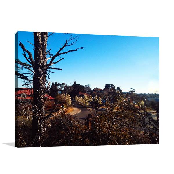Leura Photo Art Print Of Mountain Village Canvas Art