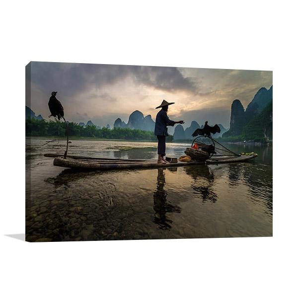 Li River Xingping China Print on Canvas