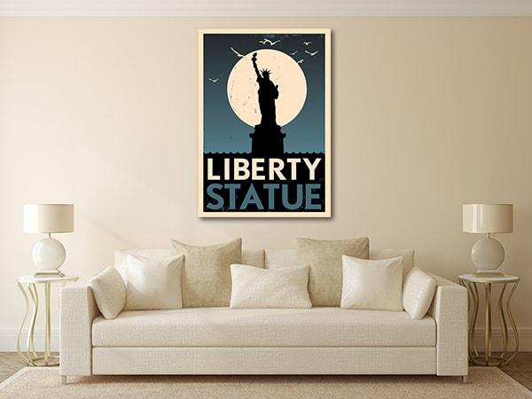 Liberty Statue Poster Canvas Prints