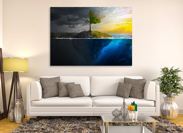 Life and Death Canvas Art Print on the Wall