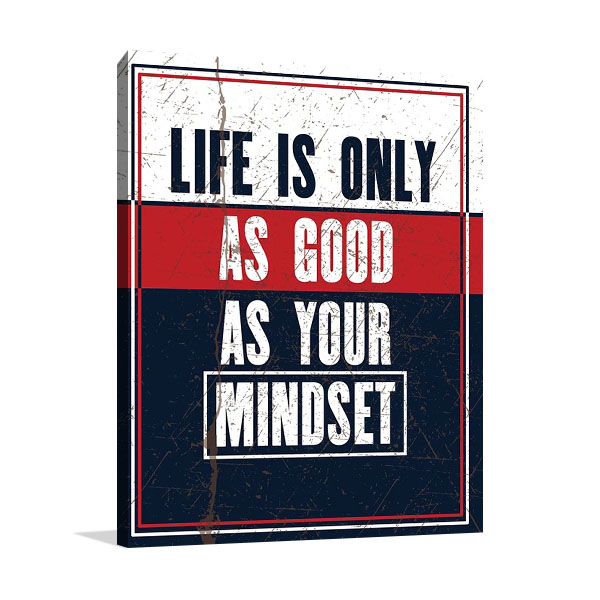 Life Mindset Canvas Wall Print