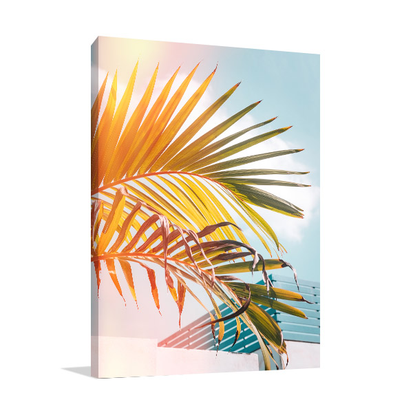 Light Green Palm Leaves Picture Art